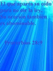 Proverbios 28:9